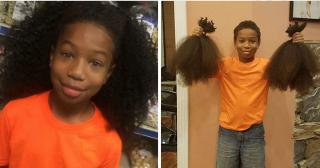 Мальчик 2 года отращивал волосы для онкобольных детей
